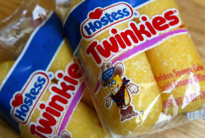 SAN FRANCISCO - SEPTEMBER 22: Hostess Twinkies sit on a table September 22, 2004 in San Francisco. Interstate Bakeries Corp., the largest U.S. wholesale bakery, maker of Wonder bread and Hostess Twinkies, filed for bankruptcy on Wednesday after struggling with more than $1.3 billion in debt and weak demand for bread products amid the popularity of low-carbohydrate diets. (Photo by Justin Sullivan/Getty Images)